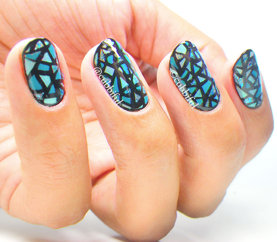Stained Glass Nail Art: Cubbiful: 40 Great Nail Art Ideas