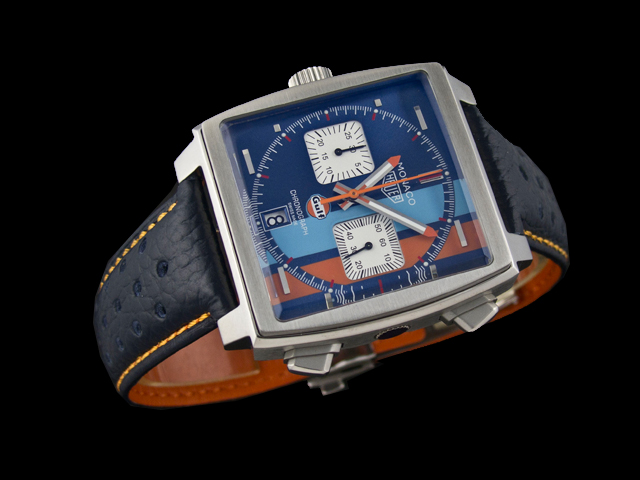 replica TAG Heuer Monaco Gulf Racing 50TH Anniversary Steve Mcqueen CAW211R.FC6401  Special Edition Watch 606a57831583