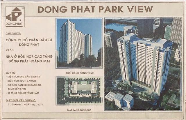Quy mô phân khu dự án Đồng Phát Park View Tower