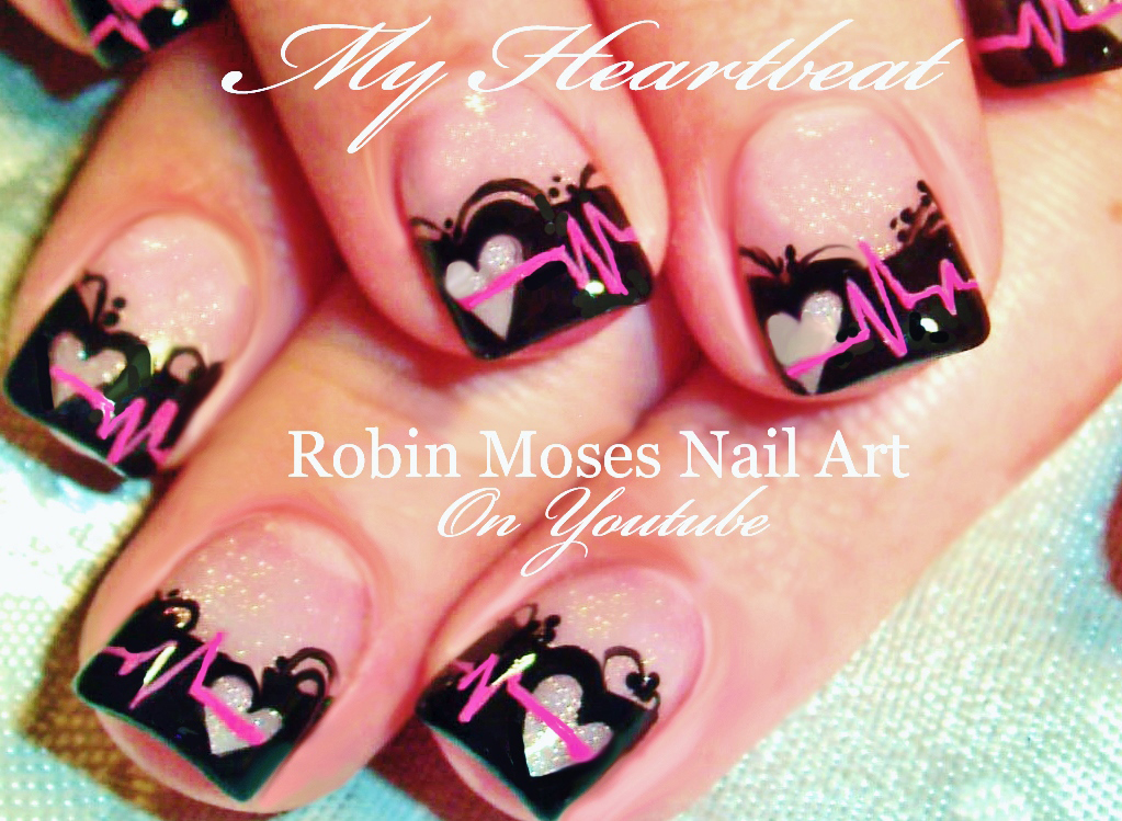 Nail Art By Robin Moses Anti Vaentines Day Nail Art Design Ideas
