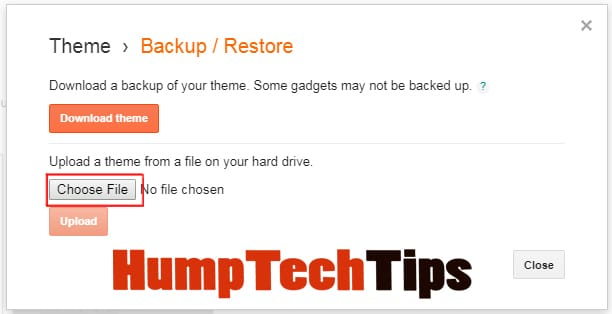 How to Backup and Restore Your Blogger Template