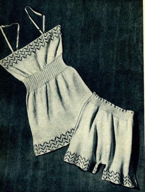 The Vintage Pattern Files: Free 1950's Knitting Pattern - Vest and Pantie Set
