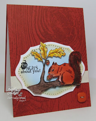 "ODBD ""Thankful Song"", ""Wood Background"", ""ODBD Elegant Ovals"" Die Set, Card Designer Angie Crockett"