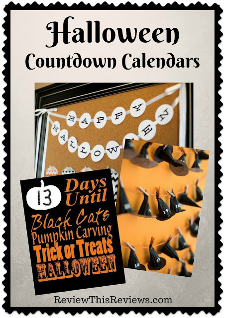 "A countdown calendar will help put the ""How many days 'til Halloween?"" question to rest. Here are three Halloween countdown calendars that you can make yourself."