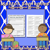 http://www.teacherspayteachers.com/Product/Mentor-Sentences-Synonyms-and-Antonyms-FREE-1049689