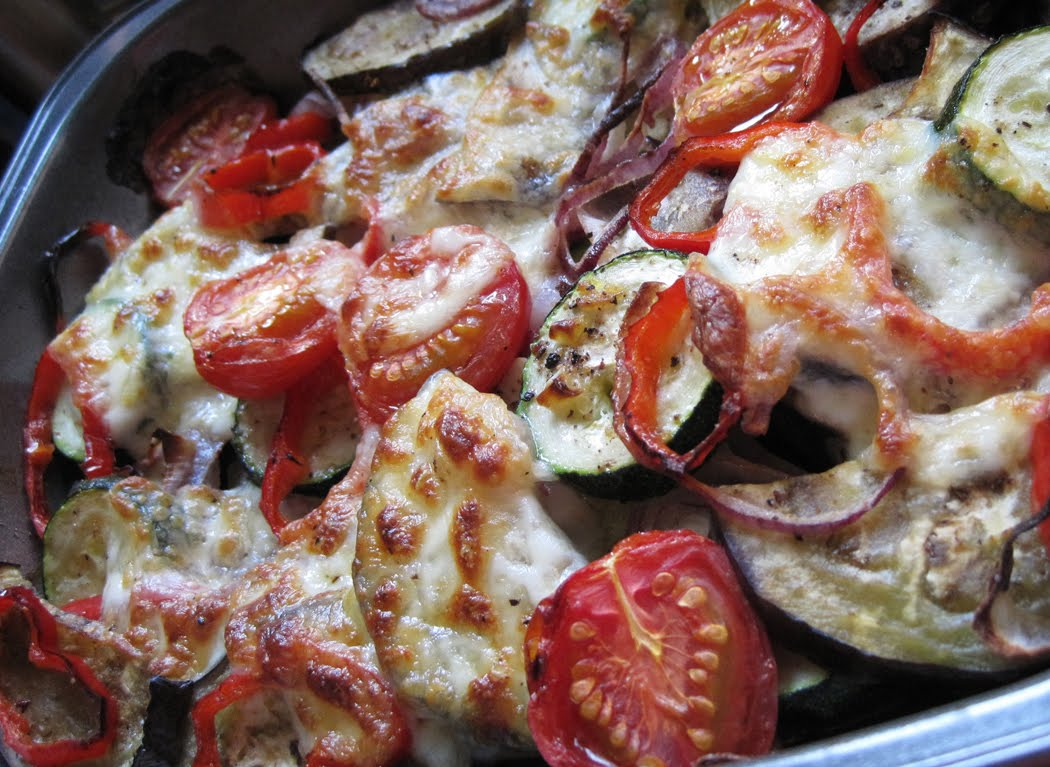 Roasted Vegetables with Mozzarella