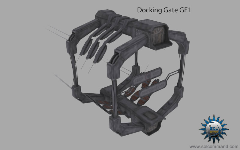 dock, docking gate, gate, sci fi, scifi, sci-fi, syfy, space, 3d, model, download, solcommand, sol command, free, quality, game ready, mesh