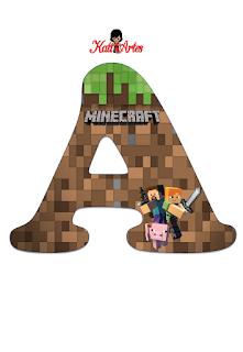 Abecedario de Minecraft. Minecraft Alphabet.