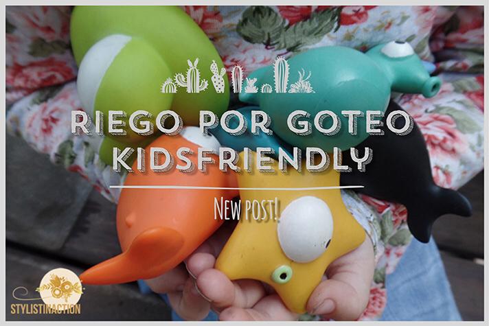 DIY riego por goteo kidsfriendly para hacer con chicos con juguetes de Casa Ideas