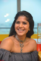Mega Akash in a sleeveless Off Shoulder Cute Dress Stunnign beauty at Radio Mirchi Promoting Movie LIE ~ Celebrities Galleries 020.JPG