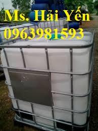 Tank IBC, tank đựng hóa chất, bồn chứa hóa chất 1000l giá rẻ