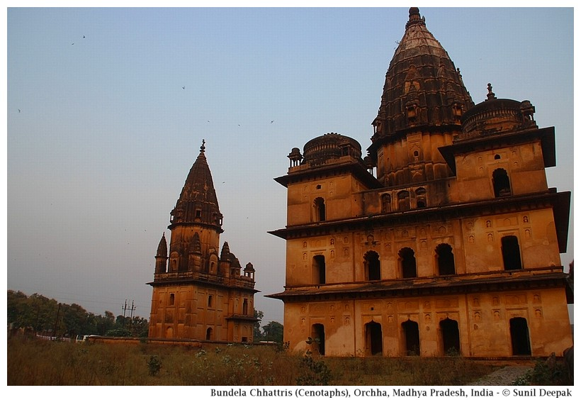 Chhattris (cenotaphs), Orchha, Madhya Pradesh, India - Images by Sunil Deepak