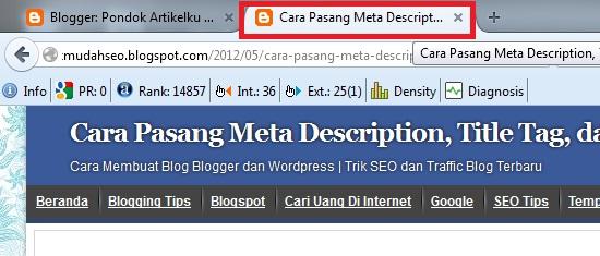 tab browser harus menampilkan judul artikel