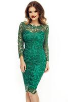 rochie-de-petrecere-din-dantela-verde-1