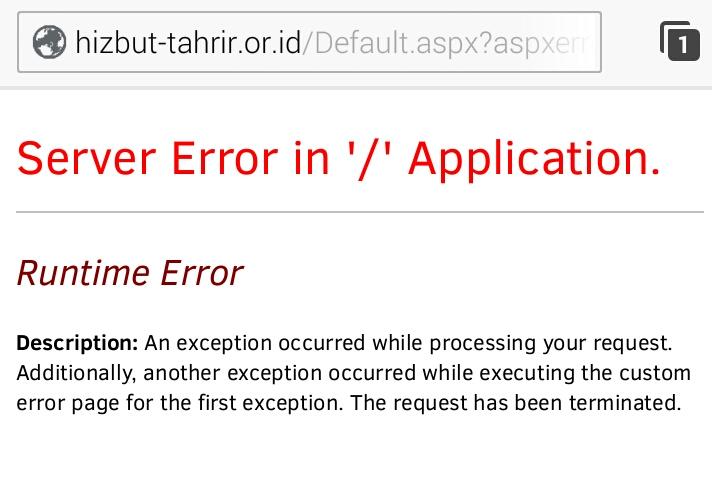 Situs Resmi Hizbut Tahrir Indonesia (HTI)  diblokir Kemenkominfo