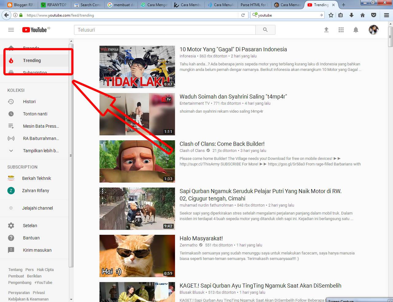 Tips Cara Melihat Trending Youtube mudah