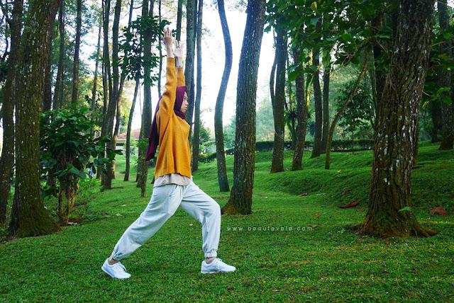 olahraga pagi di Pesona Alam Resort & Spa