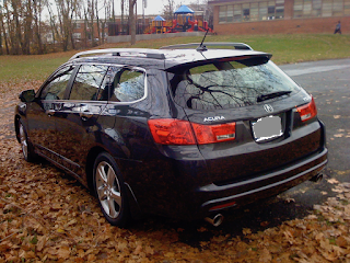 TSX Wagon and Autumn Leaves