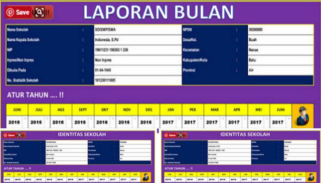Download Aplikasi Program Laporan Bulanan Sekolah Versi Terbaru 2018/2019