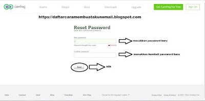 CARA RESET PASSWORD CAMFROG