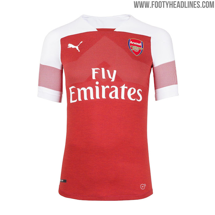 huge discount 2c574 92980 Last By Puma? Arsenal 18-19 Home Kit Released + Away & Third ...