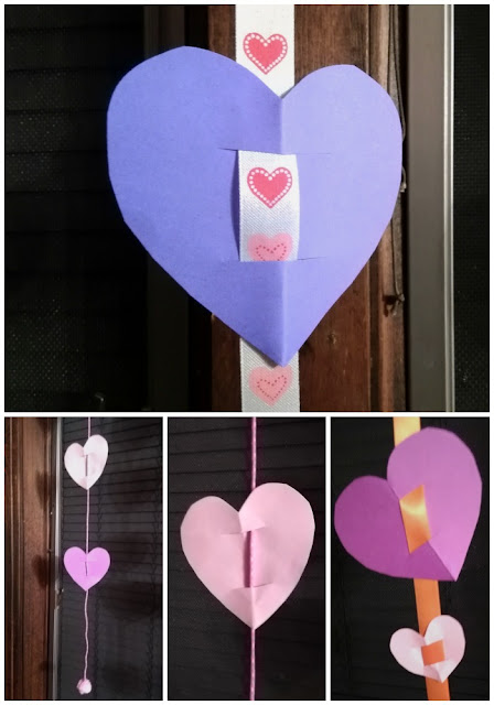 How to make heart garland for Valentine's Day party decoration.