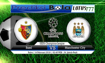 PREDIKSI  SKOR  Basel vs Manchester City  14 Februari 2018