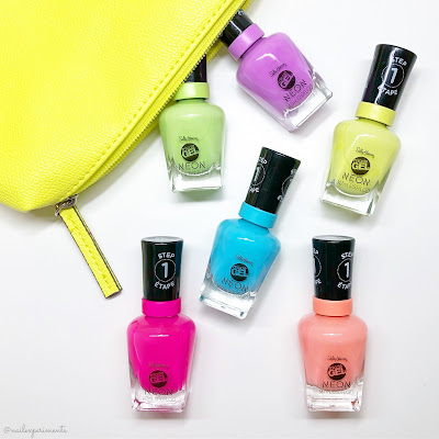 sally hansen miracle gel summer 2019 neon collection limited edition swatches