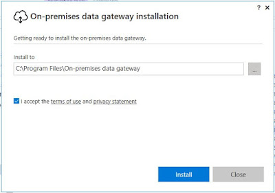 On Premises Data Gateway installation path on local machine
