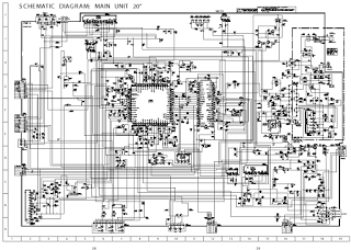 Skema TV SHARP schematic main board 20XMKII, 51XMKII (GA-4)