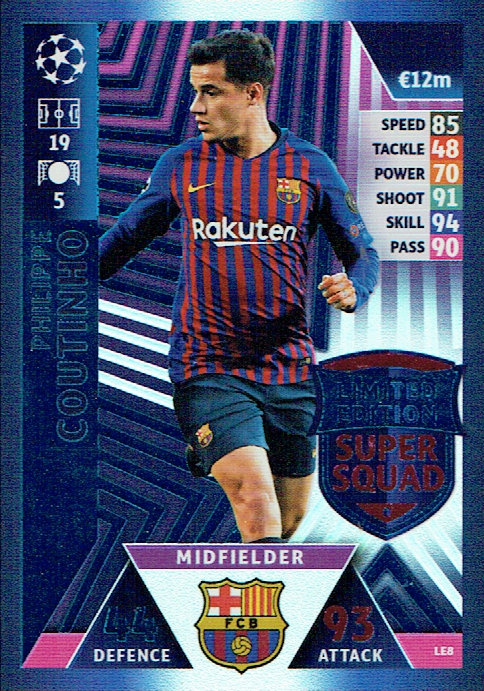 7792f796a Topps - UEFA Champions League Match Attax 2018 19 (29) - LE8 - MotD Euro  Stars Special!