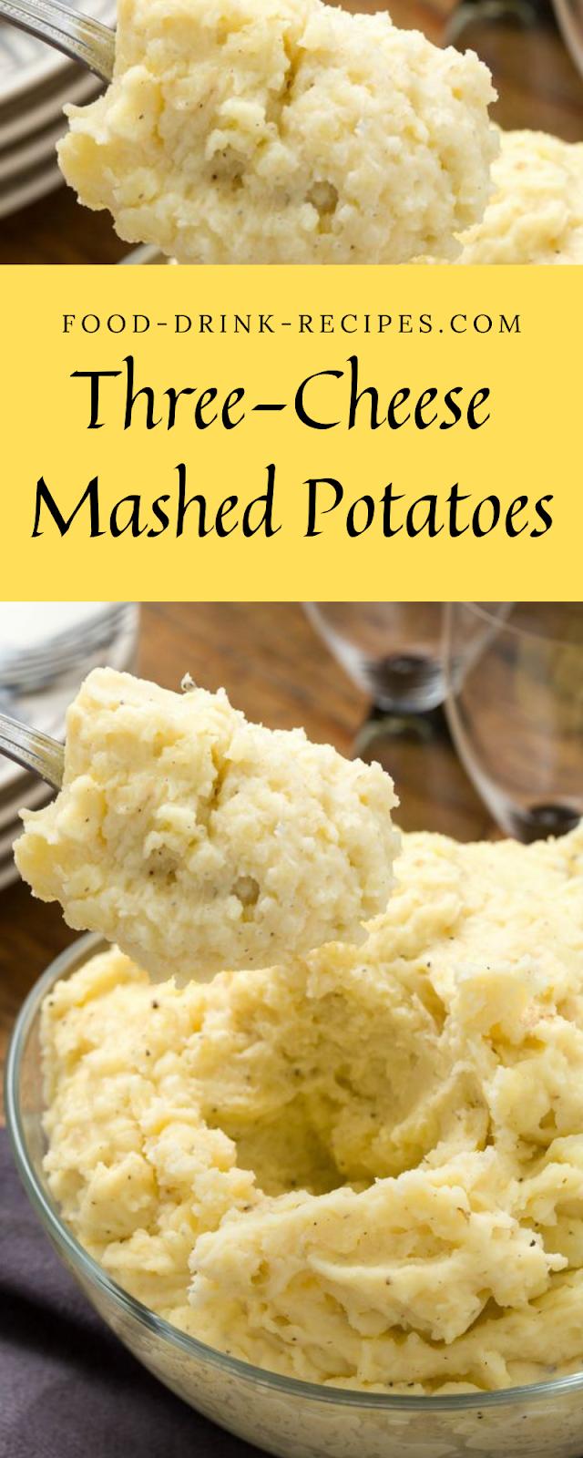 Three-Cheese Mashed Potatoes - food-drink-recipes.com