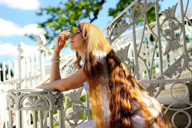 Fashion girl with long hair
