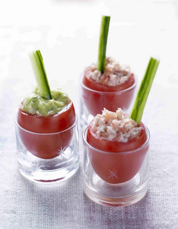 Tomates A La Coque Mouillettes De Concombre