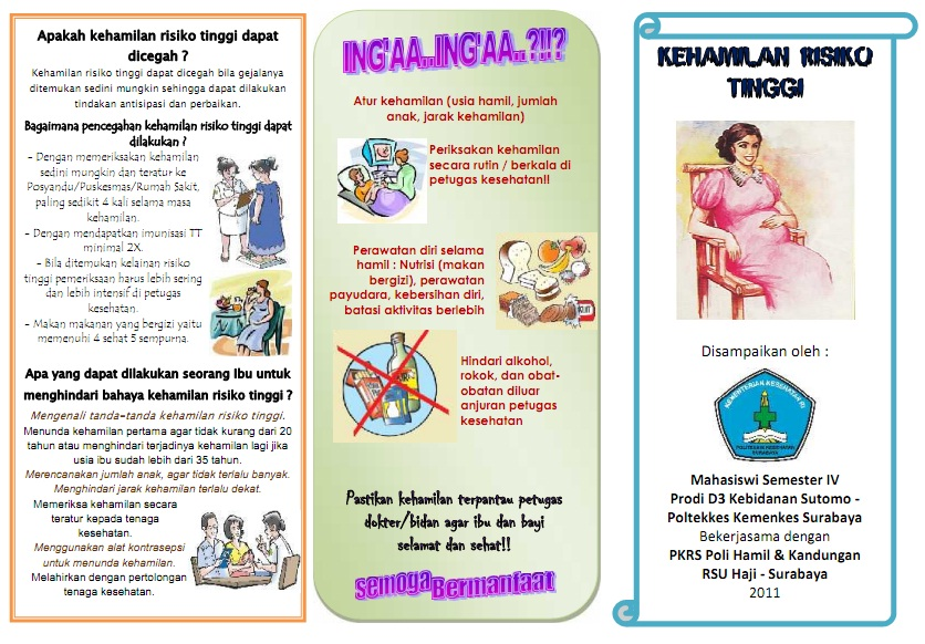 Contoh Contoh Penyuluhan Penyuluhan Pp 46 September 2013 Slideshare Kumpulan Materi Kebidanan Sap Dan Leaflet Kehamilan Risiko Tinggi