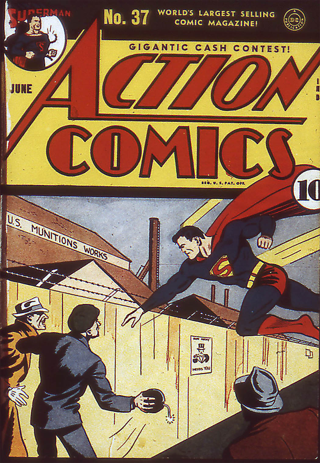Read online Action Comics (1938) comic -  Issue #37 - 1