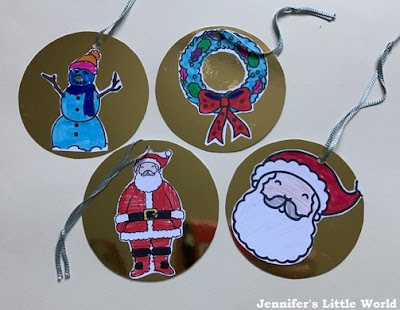 Homemade Christmas decorations with Twinkl resources