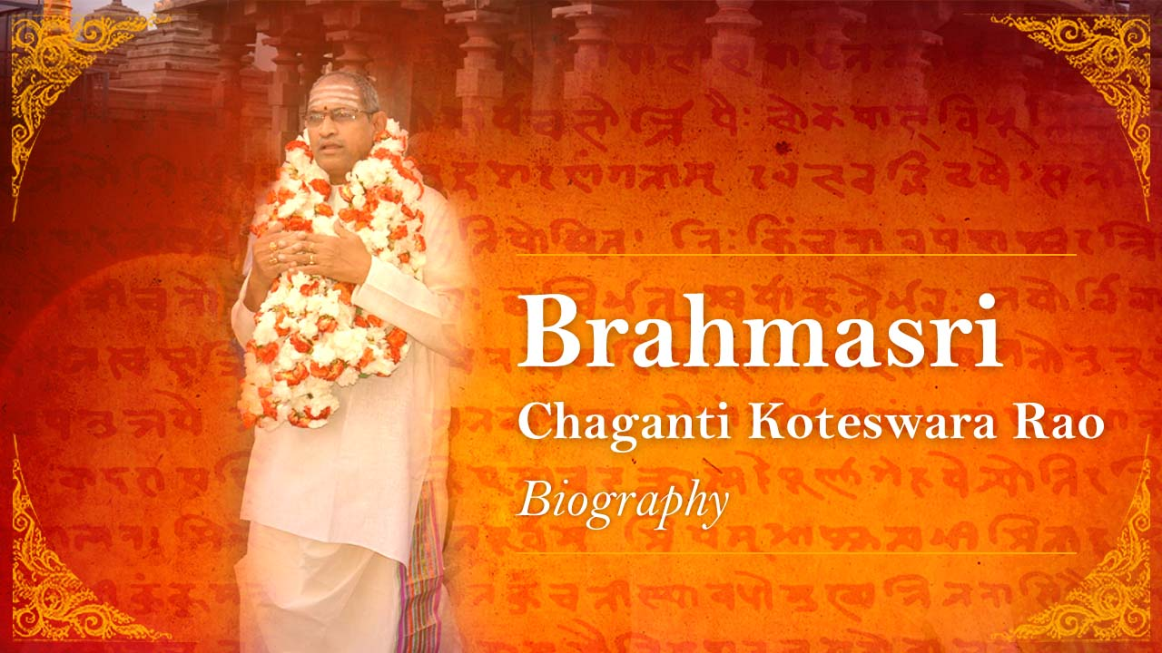 About Chaganti Koteswara Rao | Brief Biography | HD Photos, images