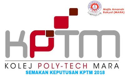 Semakan Keputusan KPTM 2018 Online
