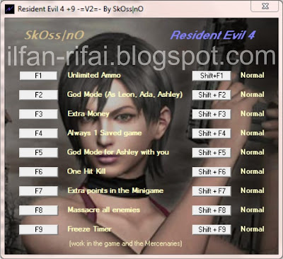 Resident evil 4 game cheats.