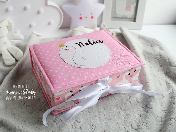 Pudełko wspomnień z łabędziem Nelia