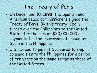 Treaty of paris 1898 spanish america war