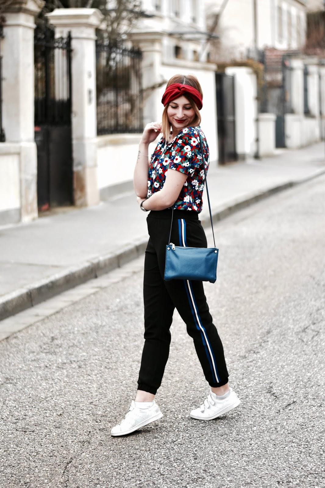 look de printemps : pantalon style jogging