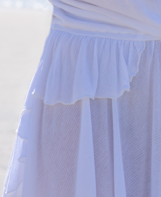 Free People white ruffle tank cover up