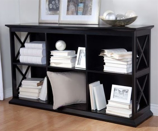 bookcases black wood