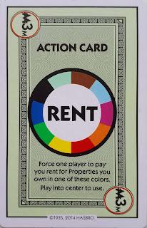 Multicoloured Rent Card