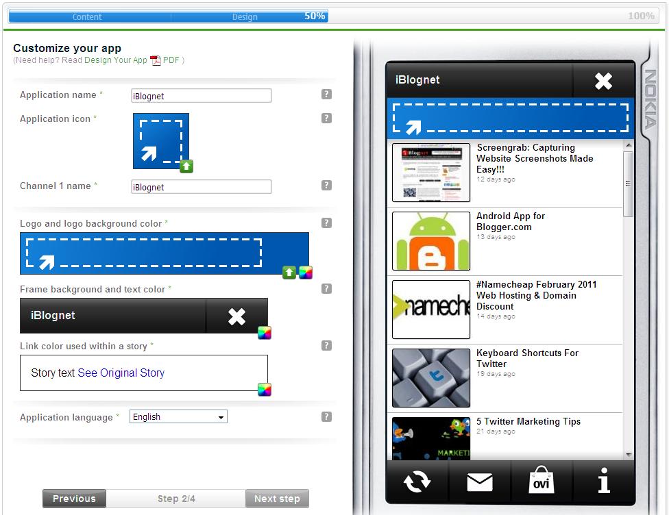 Create your Blog App and Promote it Via Nokia Ovi Store