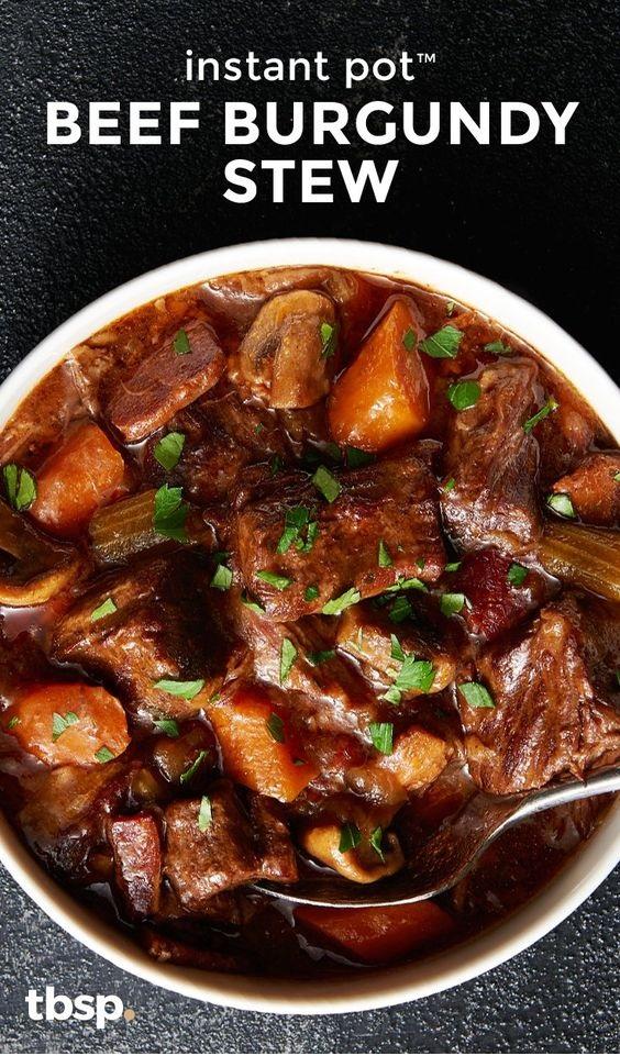 Instant Pot Beef Burgundy Stew