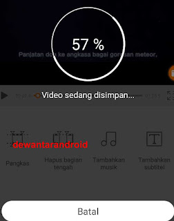 proses export video