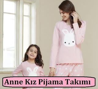 Anne Kız Pijama Takımı